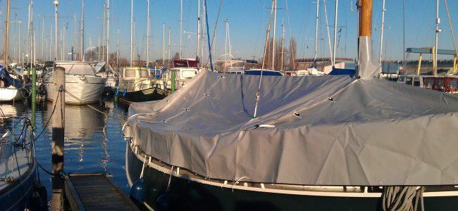 Wintertent schip, gemaakt van pvc